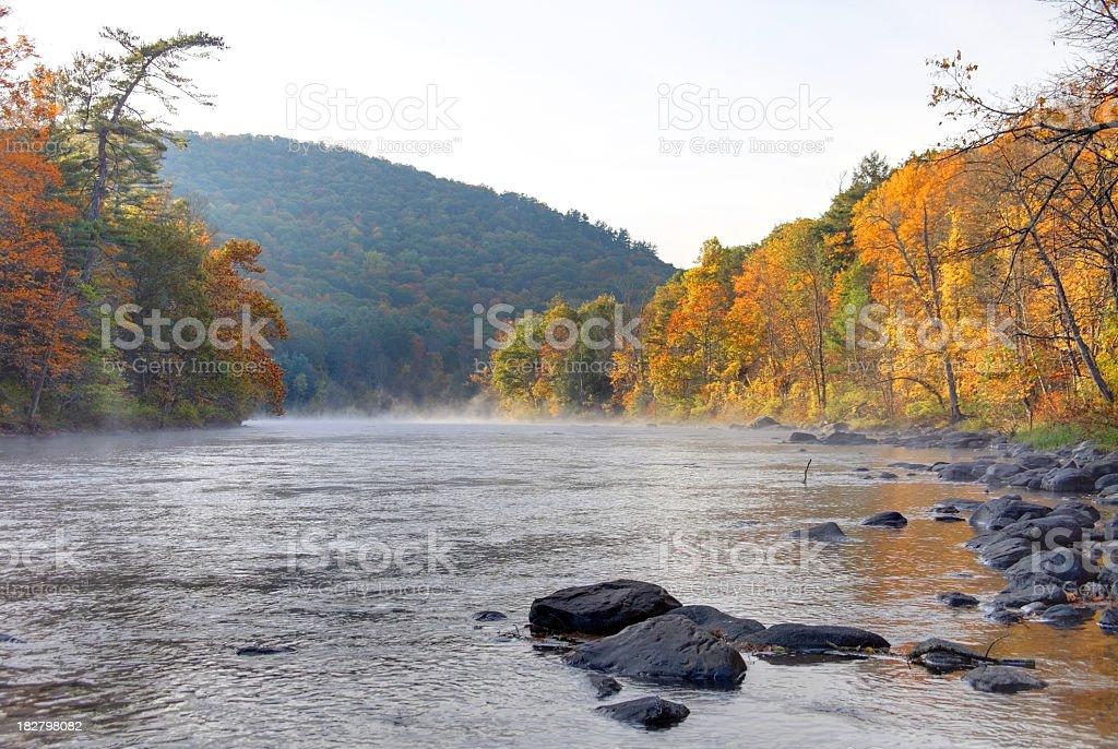 Housatonic River in Autumn stock photo