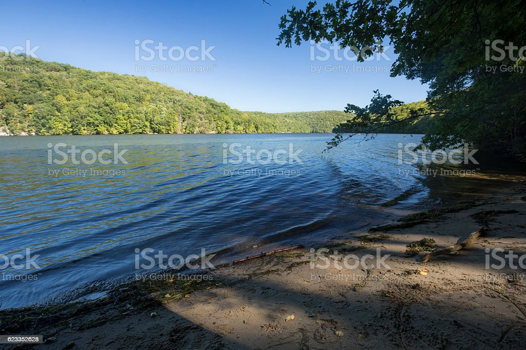 Housatonic River in Paugussett State Forest, Connecticut. stock photo