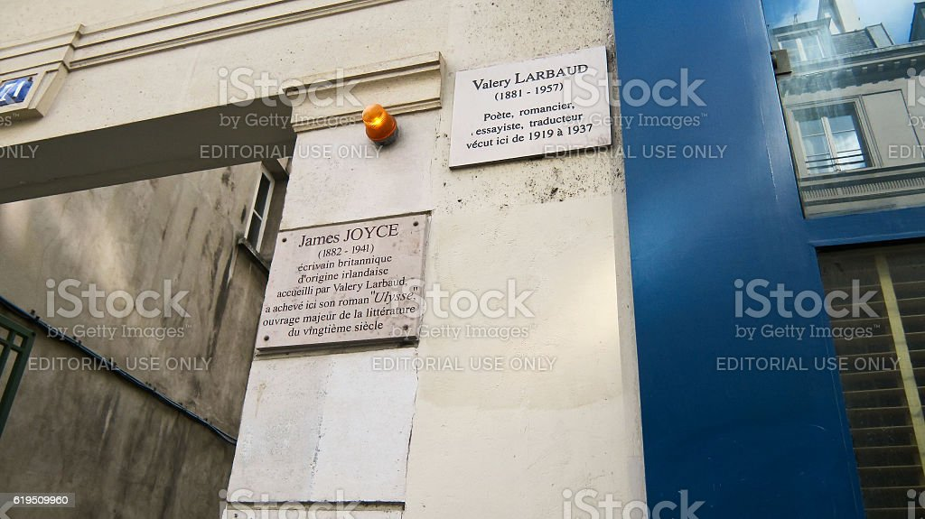 House 71 on the street Cardinal Lemoine in Paris stock photo