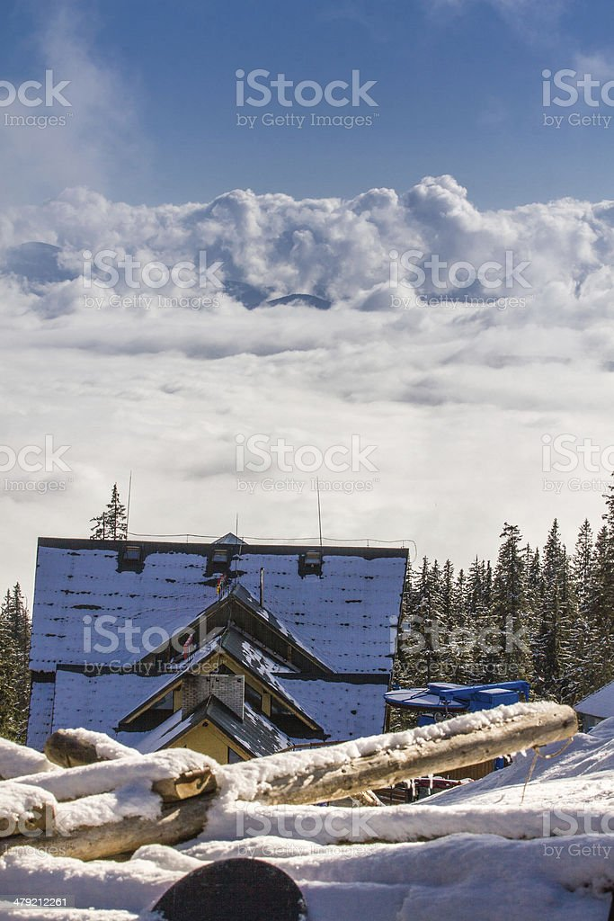 house above the clouds royalty-free stock photo