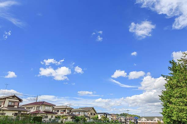 dom i błękitne niebo - prefektura kanagawa zdjęcia i obrazy z banku zdjęć