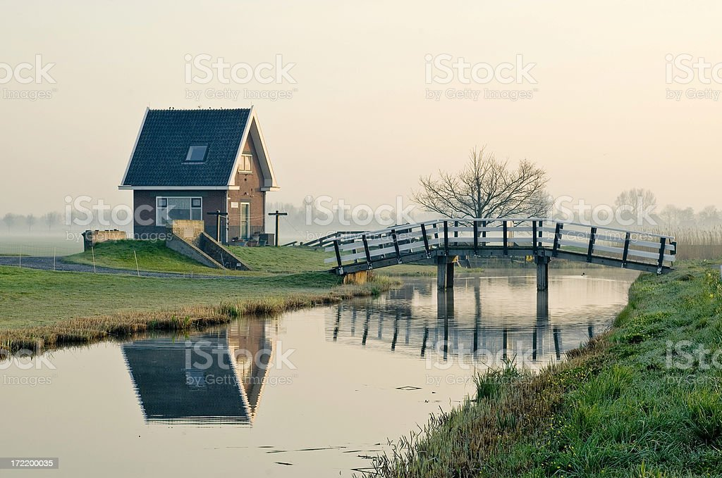 House and Bridge royalty-free stock photo