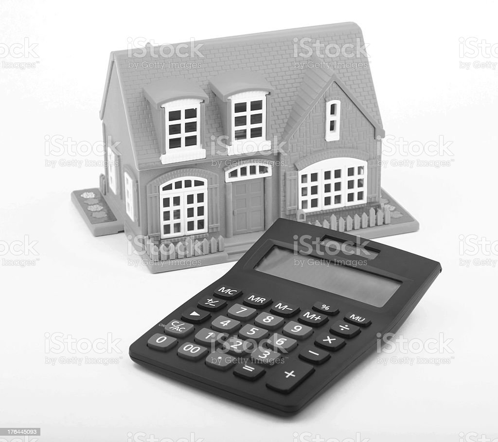 House and calculator royalty-free stock photo