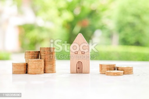 istock House and coins 1165358090