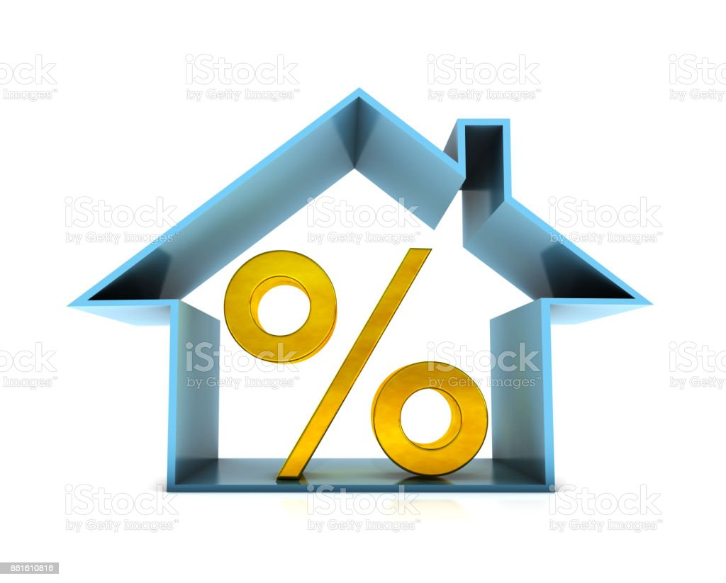 House and dollar sign stock photo