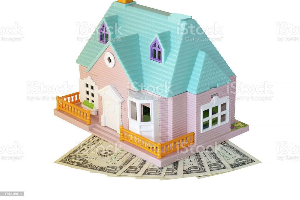 house and dollars royalty-free stock photo