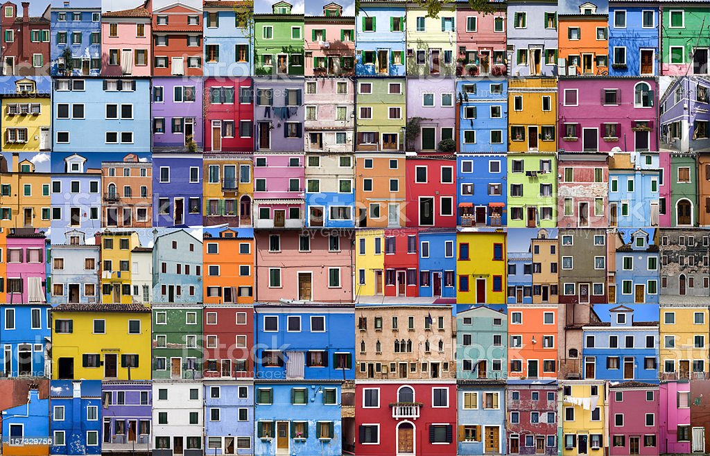 House and Home in Colour - XXXLarge - Royalty-free Architecture Stock Photo
