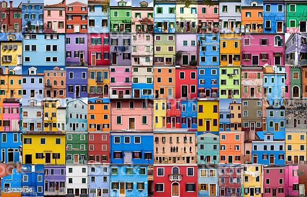 House And Home In Colour Xxxlarge Stock Photo - Download Image Now