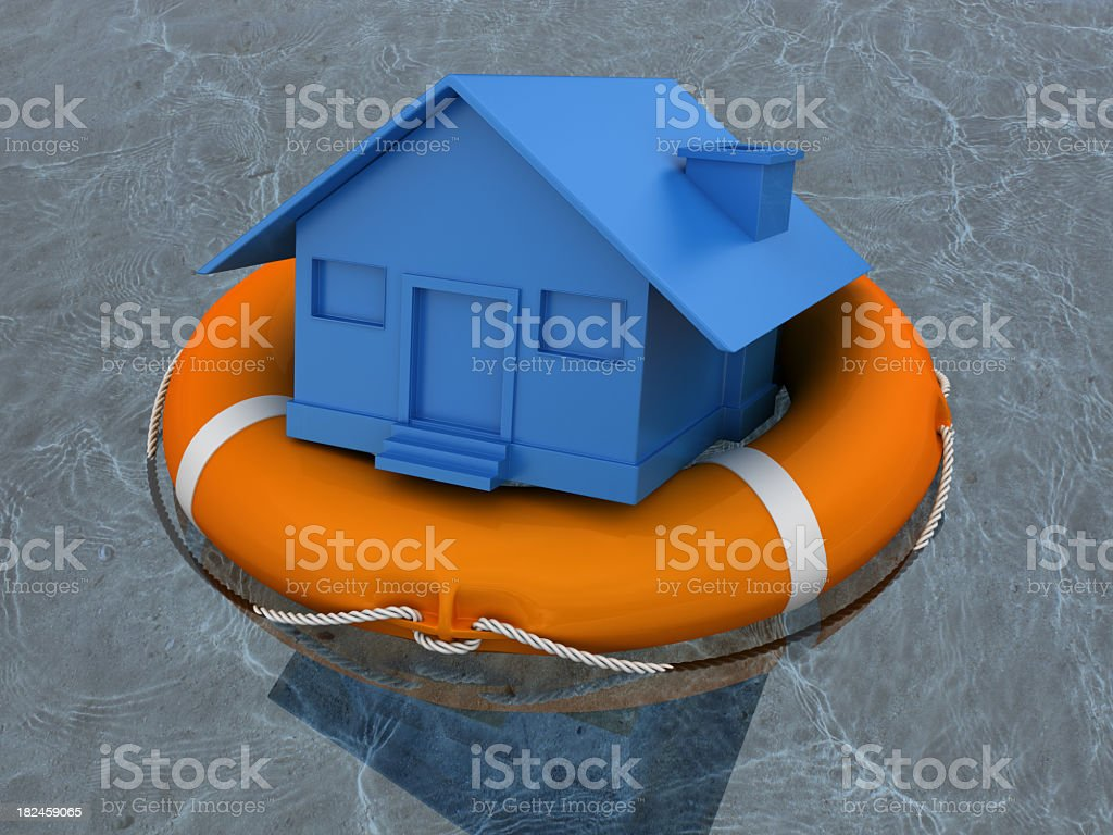 House and Life Belt royalty-free stock photo