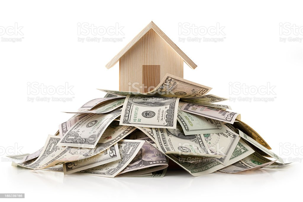 House and money. royalty-free stock photo