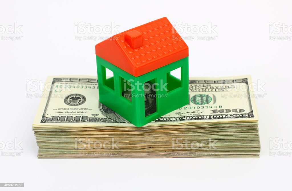 House and Moneys royalty-free stock photo