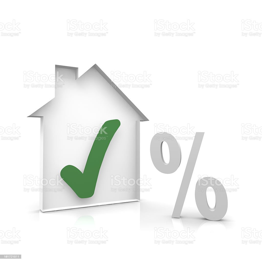 House and percent symbol royalty-free stock photo