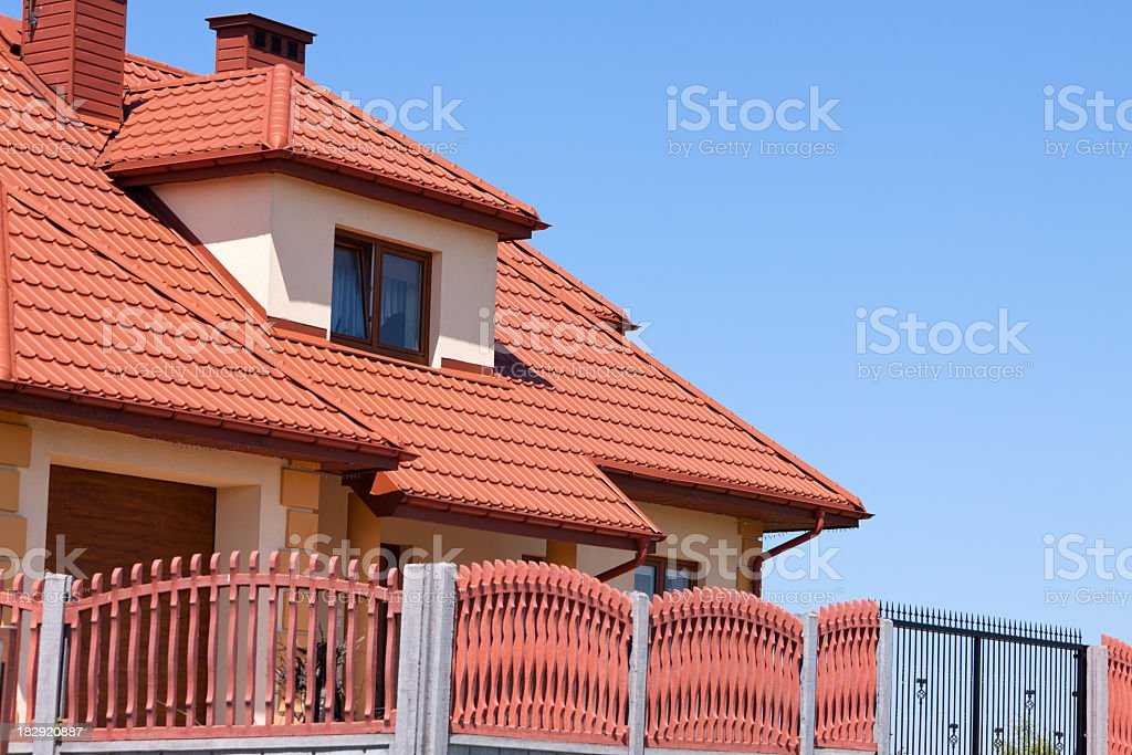 House and Roof royalty-free stock photo