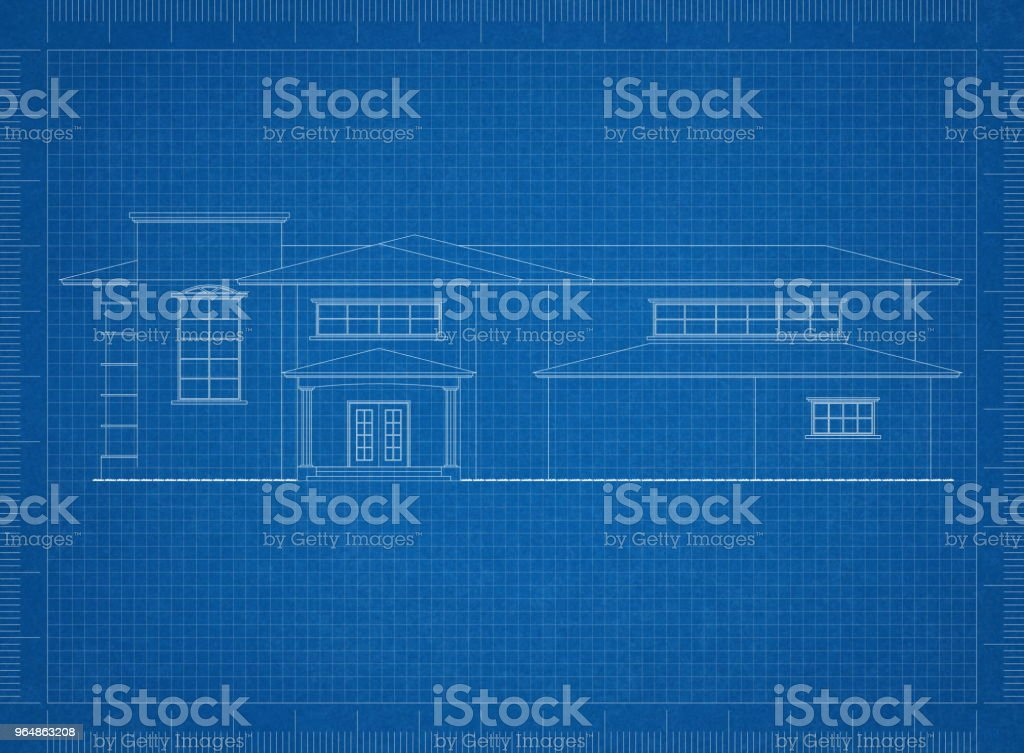House Architect blueprint royalty-free stock photo