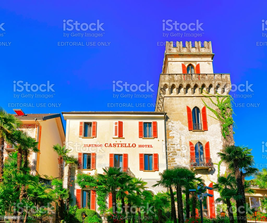 House at expensive resort at Ascona in Swiss CH royalty-free stock photo