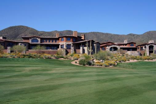 Beautiful house at golfcourse in Scottsdale Arizona.