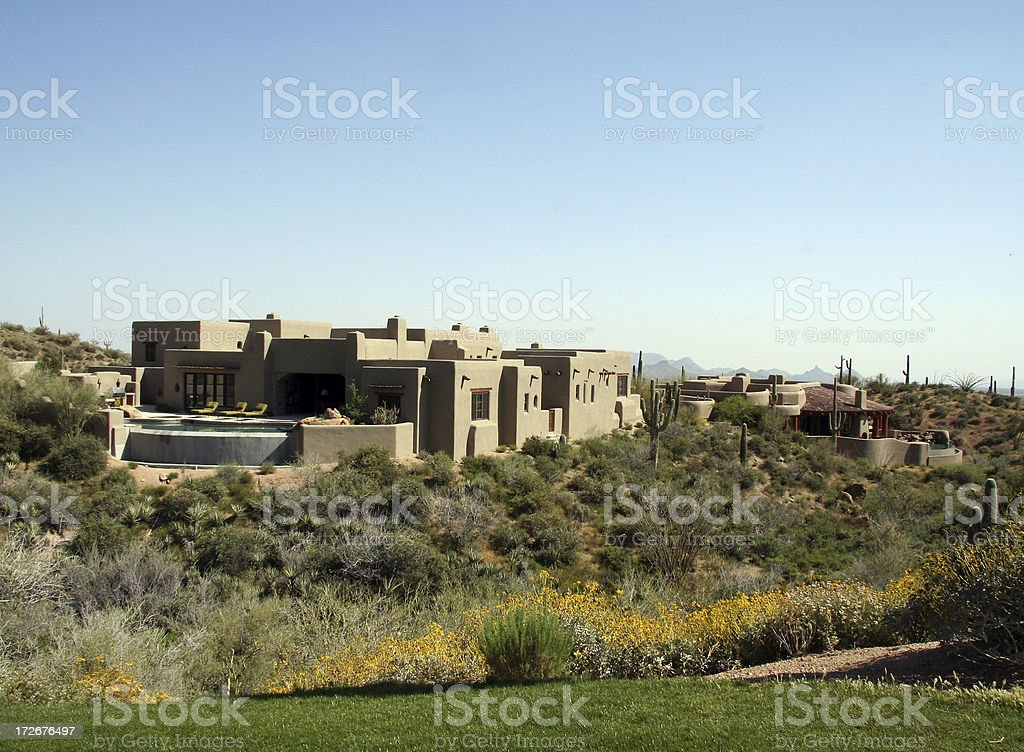 House at golf course royalty-free stock photo