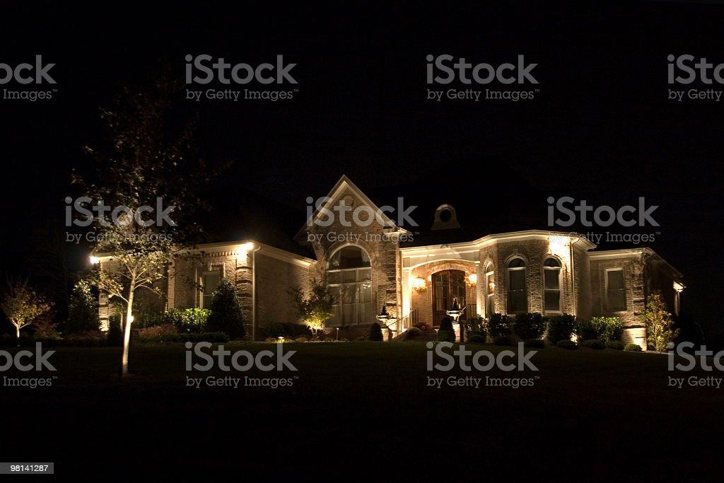 House at Night2 royalty-free stock photo