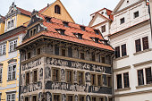 istock House at the Minute or Dum U Minuty in Czech, on Old Town Square in Prague 1258102753