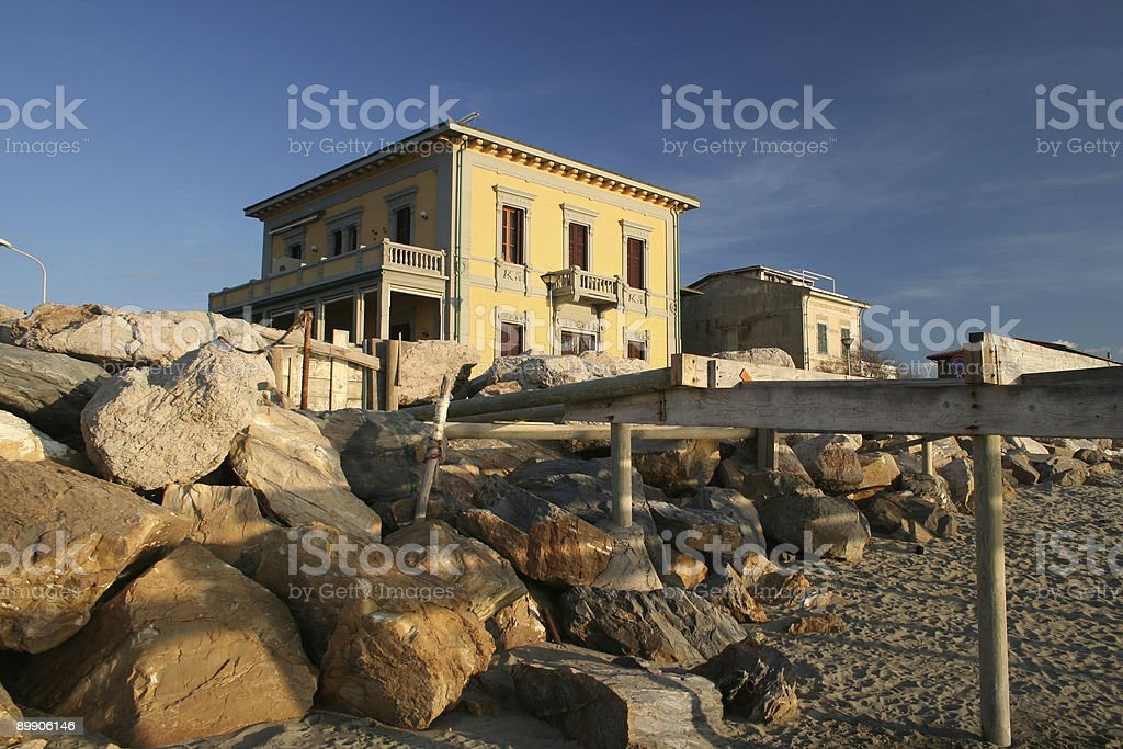 House at the seashore royalty-free stock photo