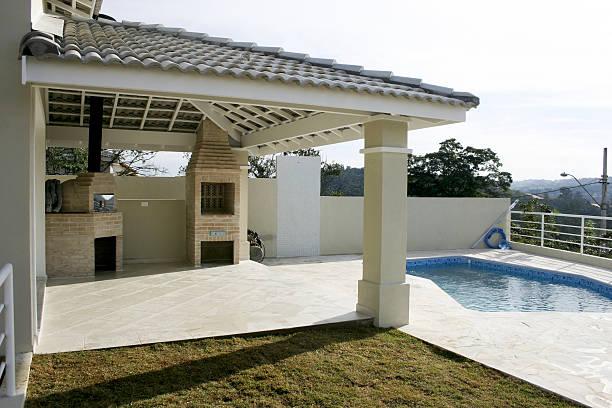 House backyard stock photo
