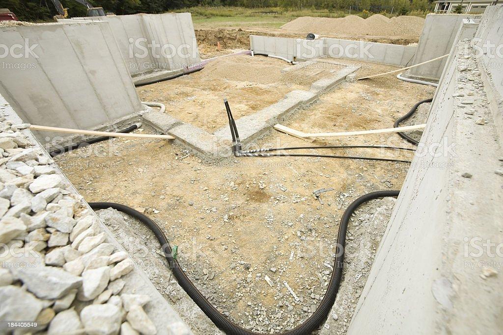 House Basement Radon Mitigation System - Royalty-free Bescherming Stockfoto