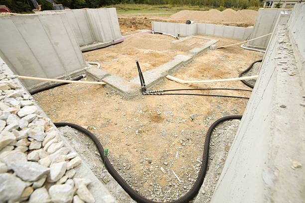 house basement radon mitigation system - radon test stockfoto's en -beelden