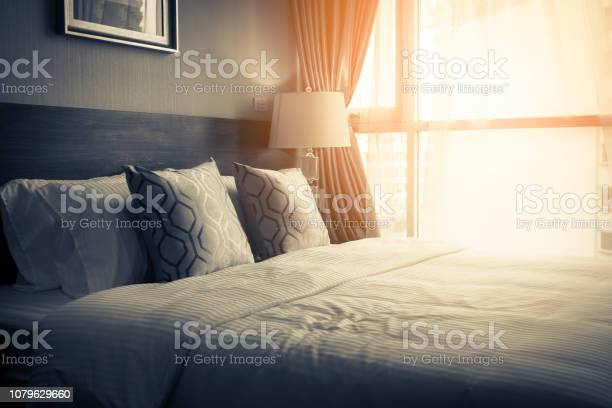 House beautiful design concept with soft cozy pillow on bed in picture id1079629660?b=1&k=6&m=1079629660&s=612x612&h=j0n3jhn8vjtcmcymacnui2ytd ityq elsifre48fzk=