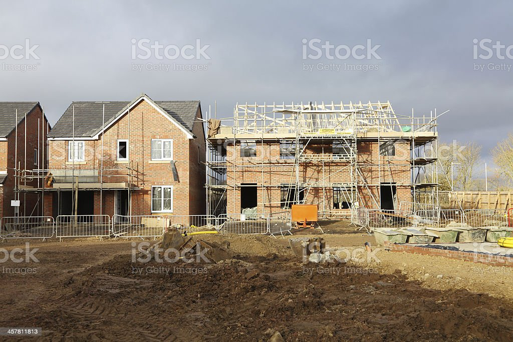 UK house being built stock photo