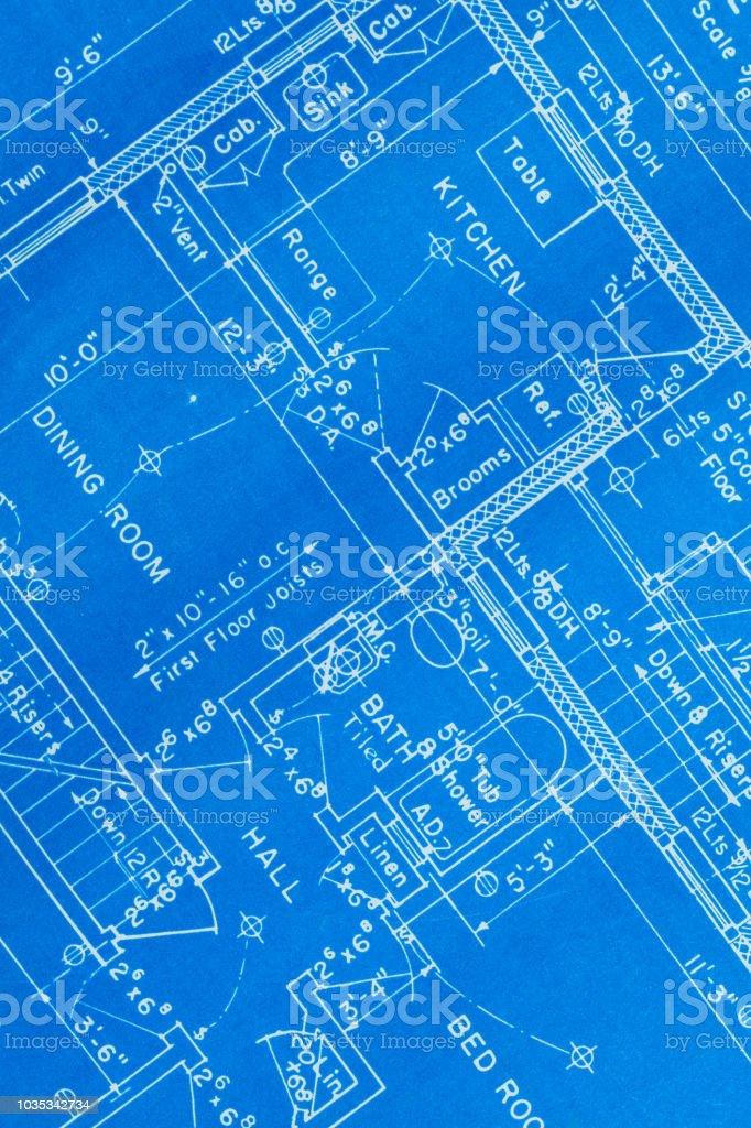 House Blue Prints Close Up – zdjęcie