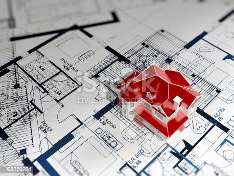 507211099istockphoto House Blueprint 168276204