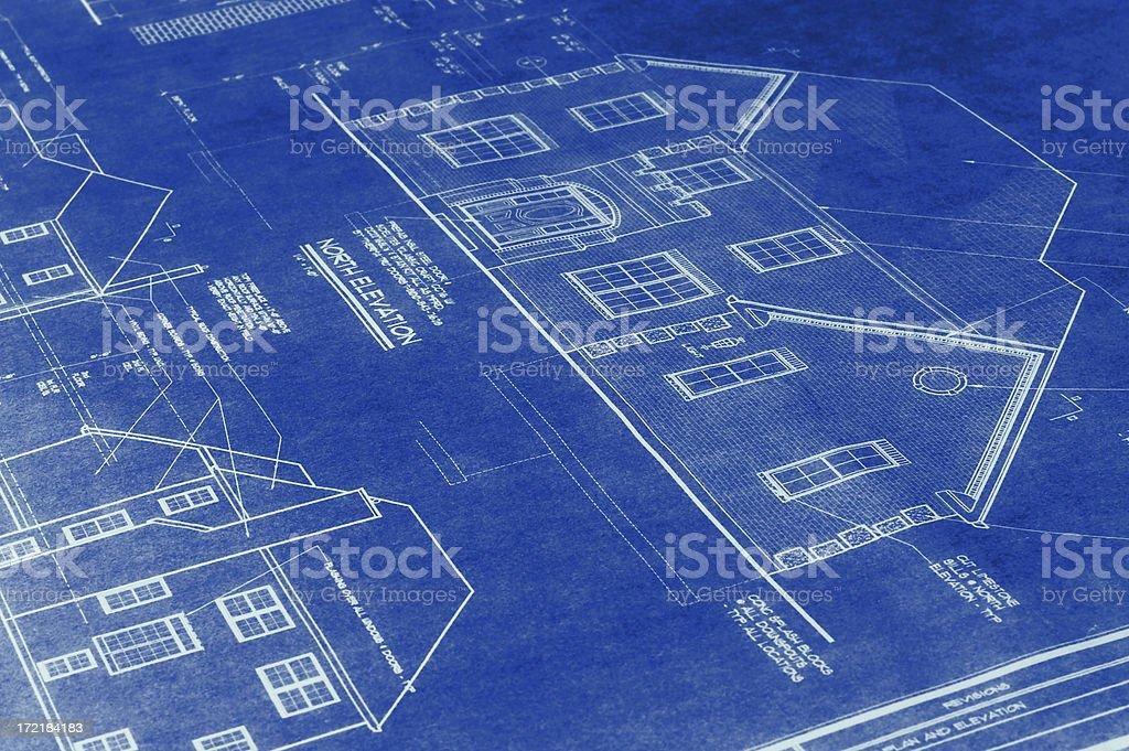 House Blueprint royalty-free stock photo