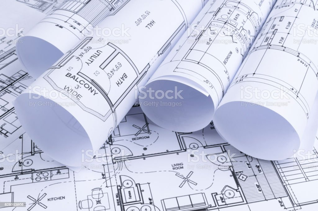 House blueprints blue print style floor plans on architects desk house blueprints blue print style floor plans on architects desk blueprint of a house malvernweather Images