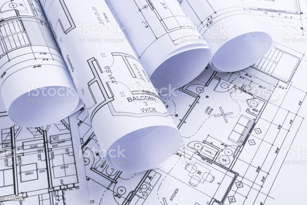 House blueprints blue print style floor plans on architects desk house blueprints blue print style floor plans on architects desk blueprint of a house malvernweather Image collections