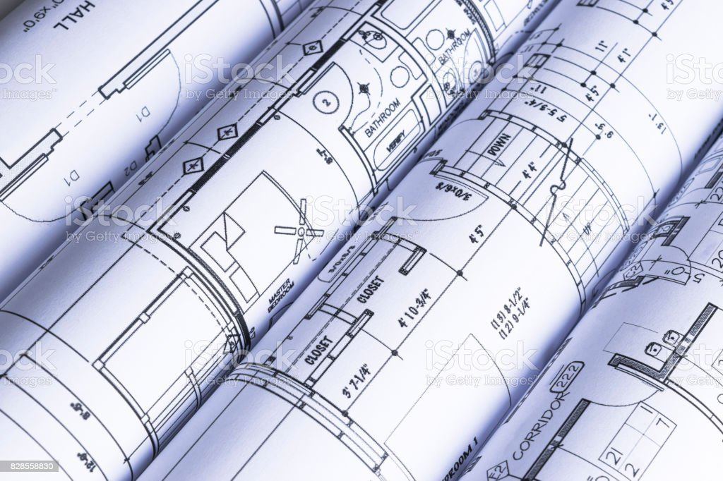 House blueprints blue print style floor plans on architects desk blueprint document drawing activity plan document residential building malvernweather Gallery