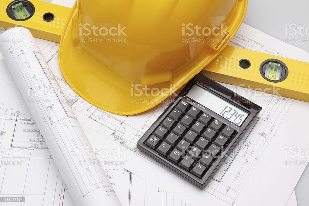 House blueprints stock photo