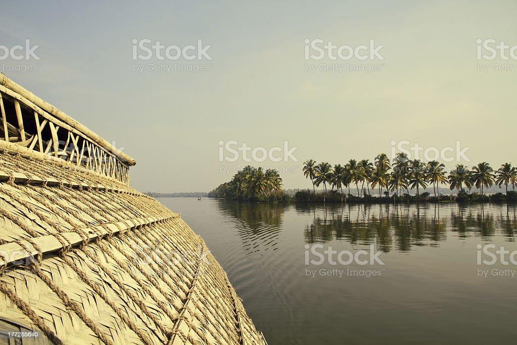 House Boat in Backwaters ( Kerala, India ) royalty-free stock photo