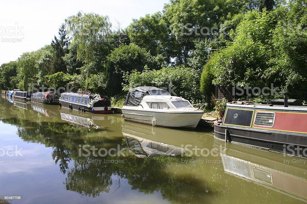 House boat mooring royalty-free stock photo