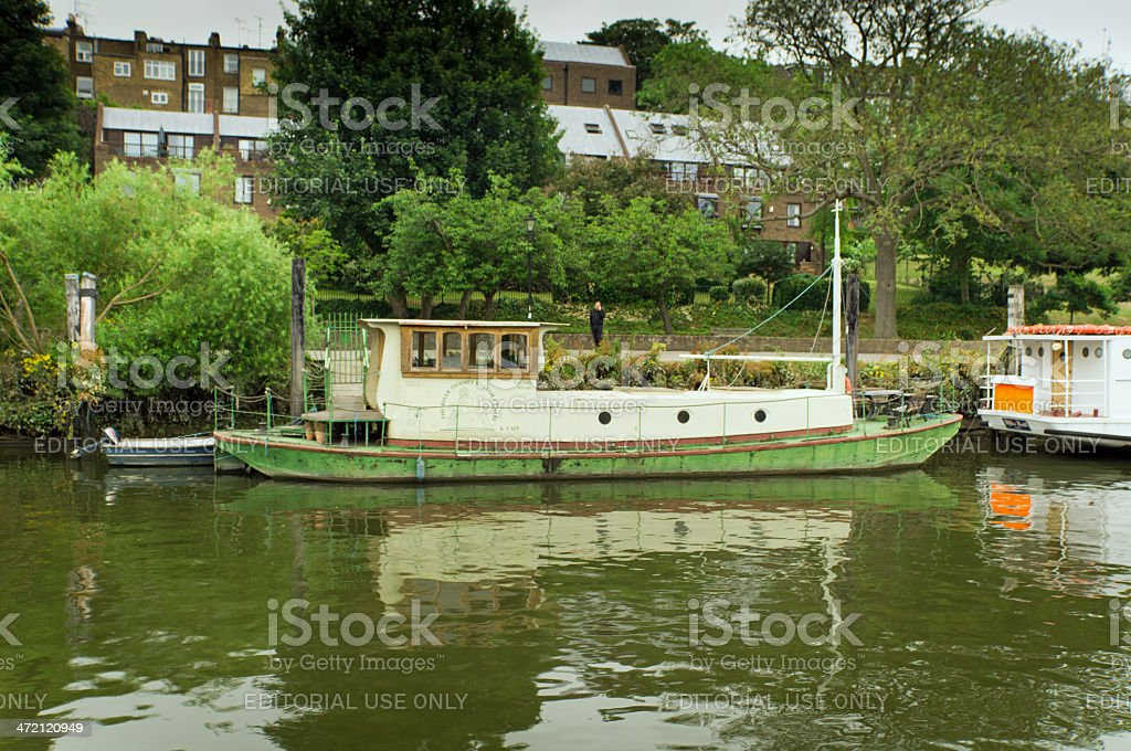 House boat on the Thames royalty-free stock photo