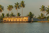 House boat, back water, Alappey, Kerala, India