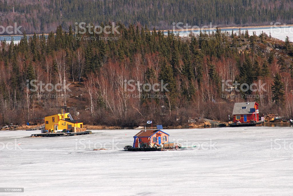 House Boats, Yellowknife stock photo