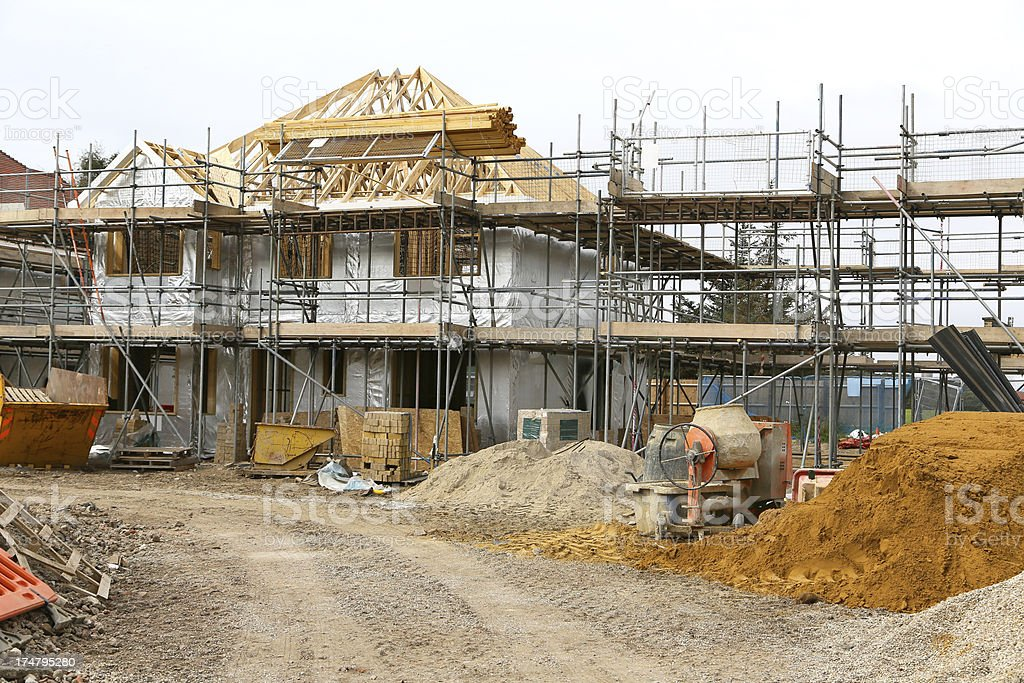 House building construction site royalty-free stock photo