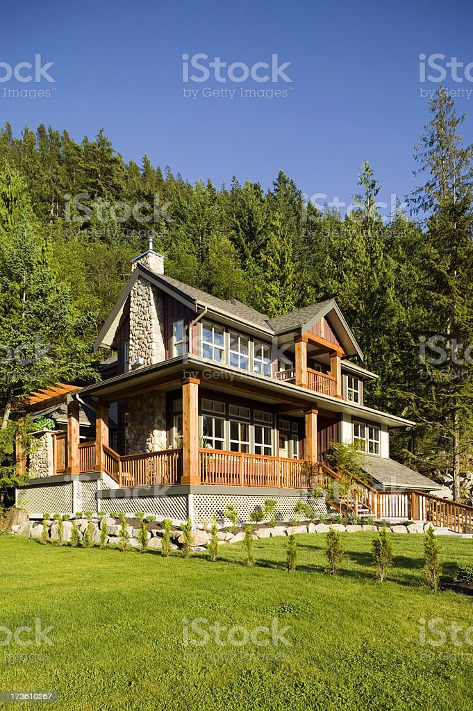 house building exterior squamish whistler royalty-free stock photo