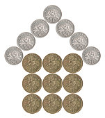istock house built of coins 927120720