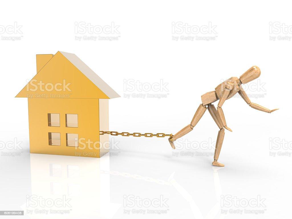 House Burden stock photo
