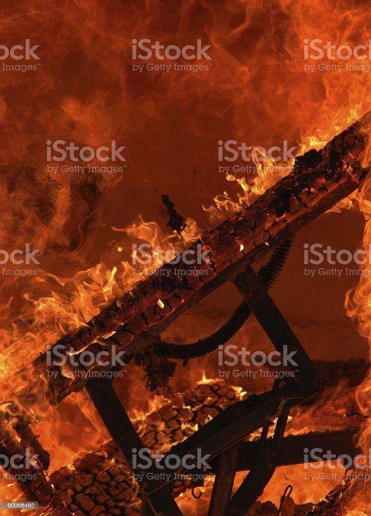 house burning royalty-free stock photo