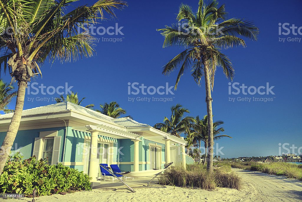 House by the beach royalty-free stock photo