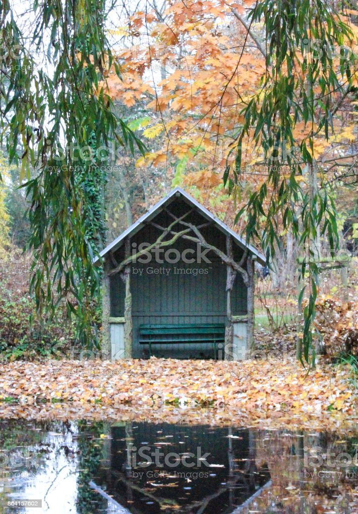 House by the lake royalty-free stock photo