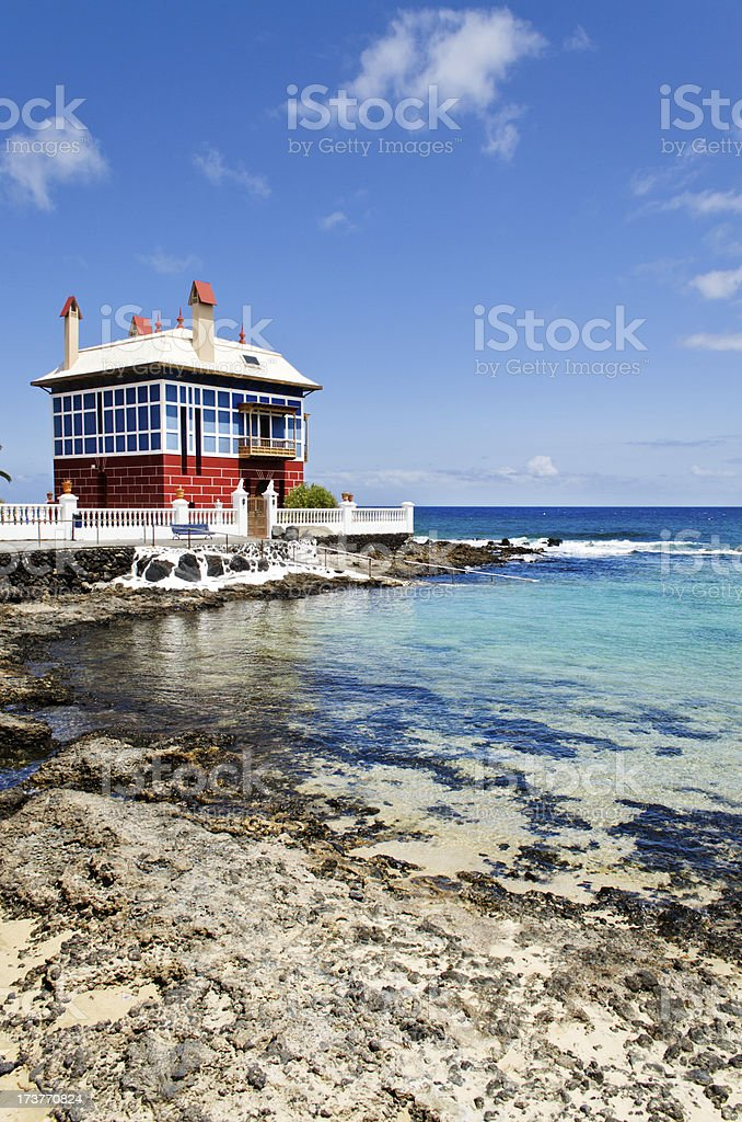 House by the sea. stock photo