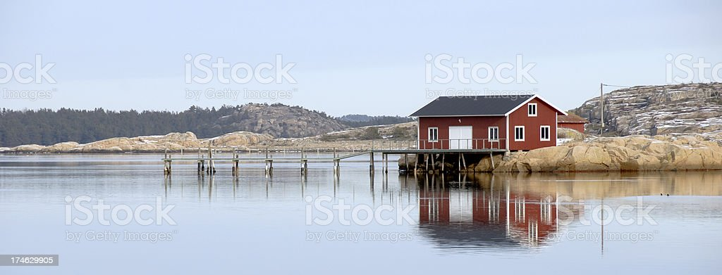 House by the sea stock photo